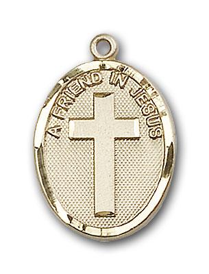 14K Gold A Friend In Jesus Pendant - Engravable