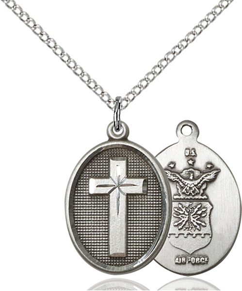 Sterling Silver Cross / Air Force Pendant