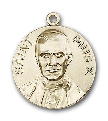 Gold-Filled Pope Pius X Pendant