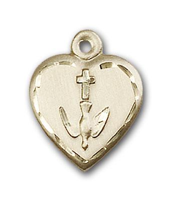 14K Gold Heart / Communion Pendant - Engravable