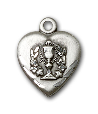 Sterling Silver Heart / Communion Pendant