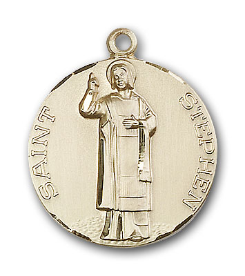 14K Gold St. Stephen Pendant - Engravable