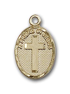 14K Gold Friend In Jesus Cross Pendant