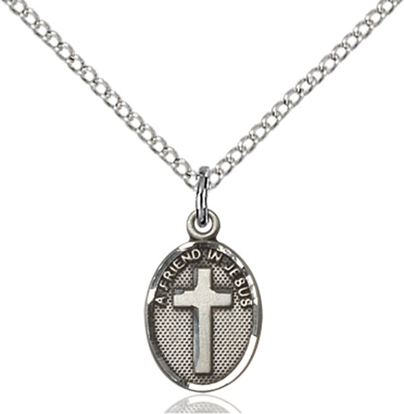 Sterling Silver Friend In Jesus Cross Pendant