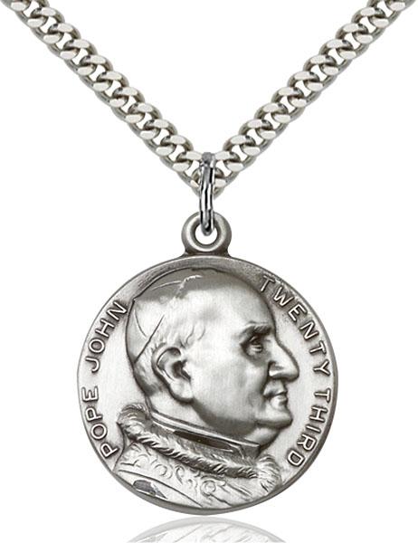 Sterling Silver St. Pope John XXII Pendant