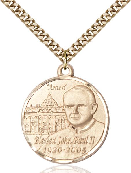 Gold-Filled Pope John Paul II Pendant
