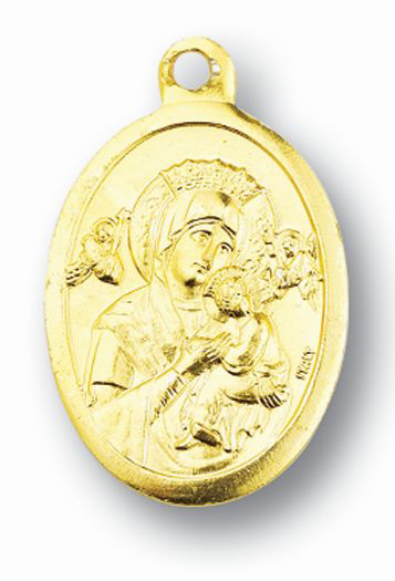 Gold Our Lady Of Perpetual Help Medal 100-Pack