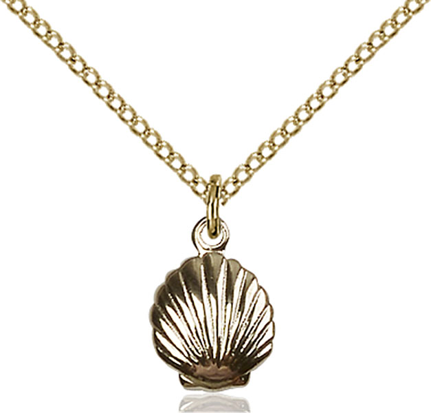 Gold-Filled Shell Pendant