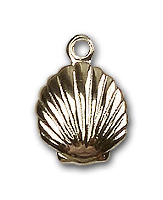 14K Gold Shell Pendant