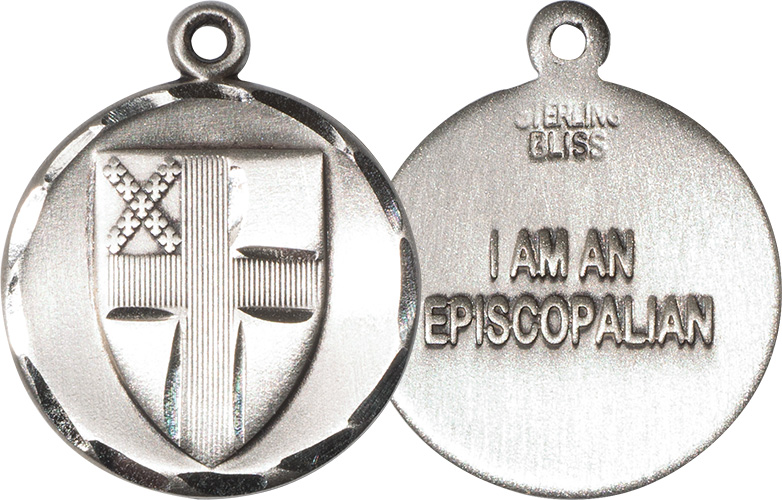 "Sterling Silver Episcopal Pendant w/24"" Chain"