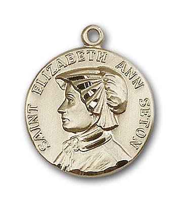 14K Gold St. Elizabeth Ann Seton Pendant - Engravable