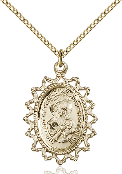 Gold-Filled Our Lady of Perpetual Help Pendant