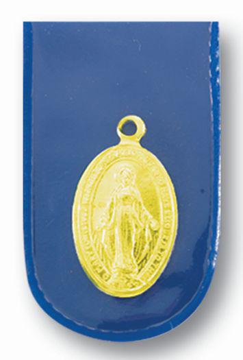 Gold Miraculous Medal In Blue Folder Pocket Piece 50-Pack