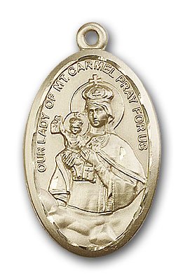 Gold-Filled Our Lady of Mount Carmel Pendant