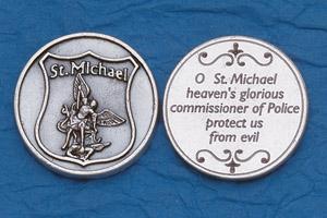 Religious Coin Token Policeman's Prayer- St Michael