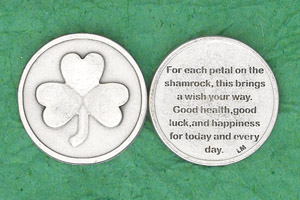 Irish Coin For each petal on the shamrock