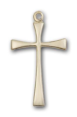 14K Gold Maltese Cross Pendant