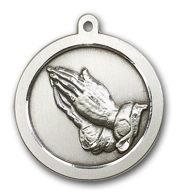 Sterling Silver Praying Hand Pendant