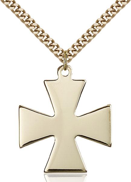 Gold-Filled Surfer Cross Pendant