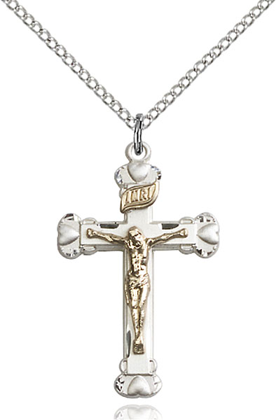 Two-Tone GF/SS Crucifix Pendant