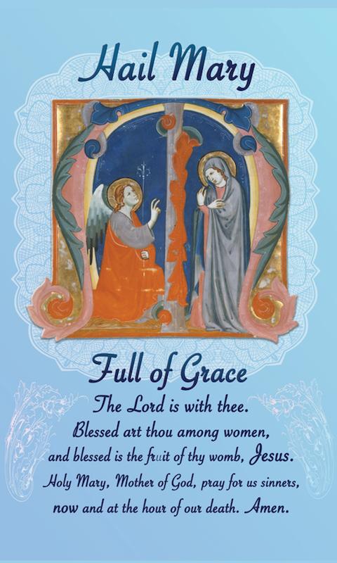 Hail Mary Prayer Card - 25-Pack