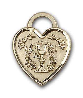 Gold-Filled Communion Heart Pendant
