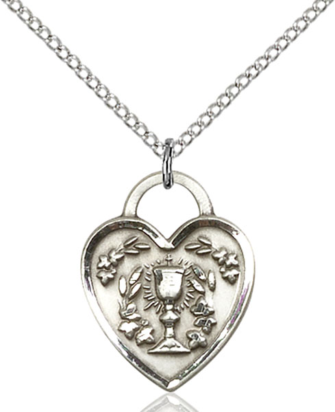Sterling Silver Communion Heart Pendant