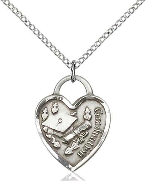 Sterling Silver Graduation Heart Pendant