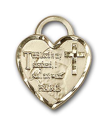 14K Gold Bridesmaid Heart Pendant - Engravable