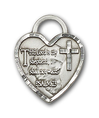 Sterling Silver Bridesmaid Heart Pendant