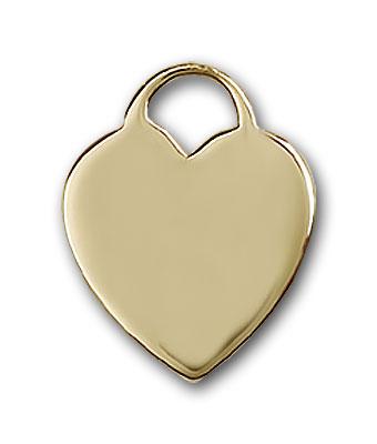 14K Gold Heart Pendant - Engravable