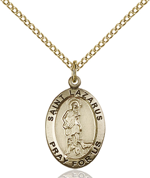 Gold-Filled St. Lazarus Pendant