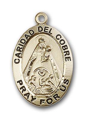 14K Gold Caridad Del Cobre Pendant - Engravable