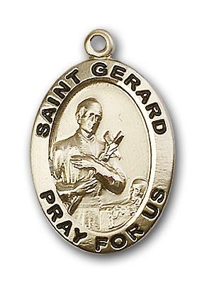 14K Gold St. Gerard Pendant - Engravable