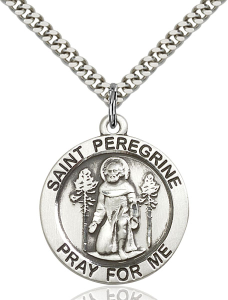 Sterling Silver St. Peregrine Pendant