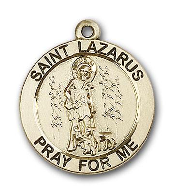 14K Gold St. Lazarus Pendant - Engravable