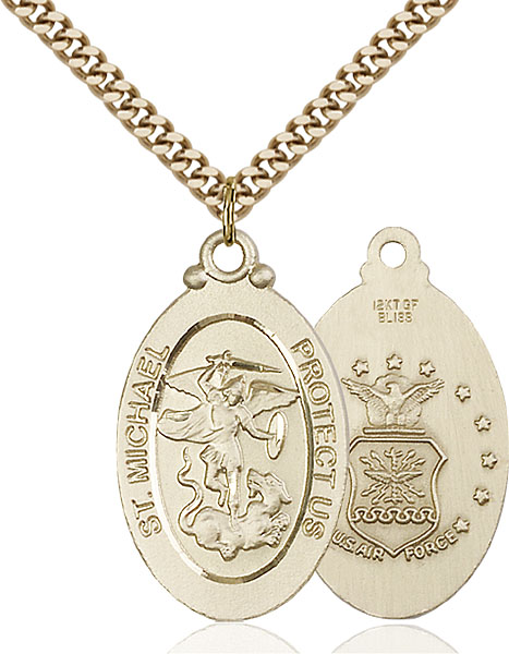Gold-Filled St. Michael / Air Force Pendant