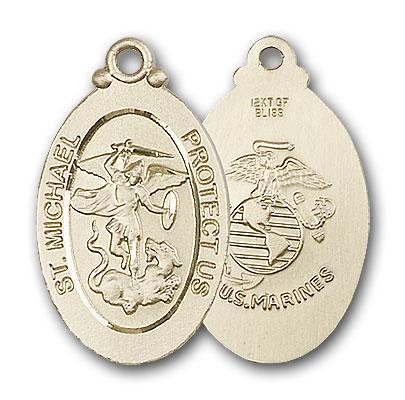 Gold-Filled St. Michael / Marines Pendant