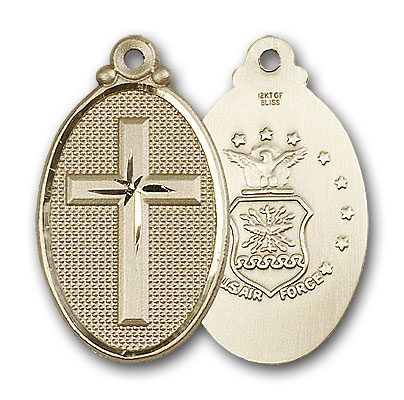 14K Gold Cross / Army Pendant