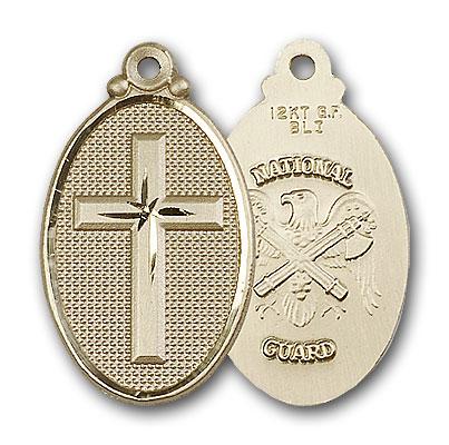 14K Gold Cross / National Guard Pendant
