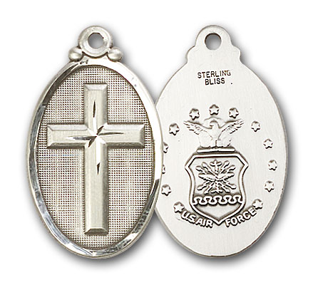 Sterling Silver Cross / Army Pendant