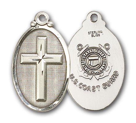 Sterling Silver Cross / Coast Guard Pendant