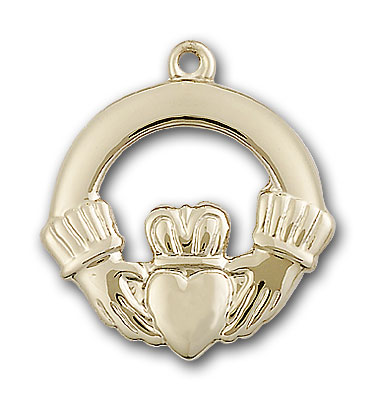 14K Gold Claggagh Pendant