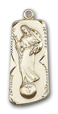 14K Gold Our Lady of Mental Peace Pendant - Engravable