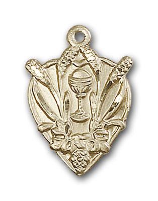 14K Gold Communion Pendant - Engravable