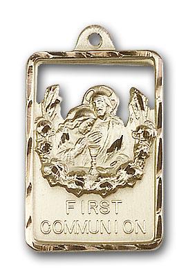 14K Gold Communion / First Reconciliation Pendant - Engravable