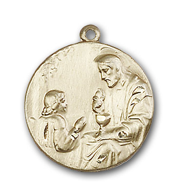 14K Gold St. Christopher Pendant - Engravable
