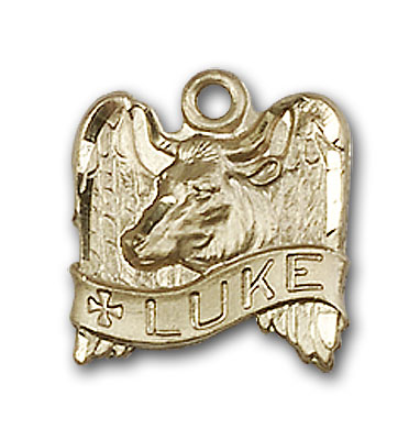 Gold-Filled St. Luke Pendant