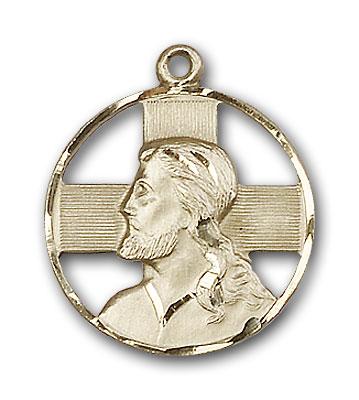 14K Gold Head of Christ Pendant