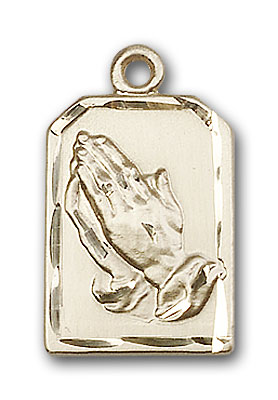 Gold-Filled Praying Hands Pendant